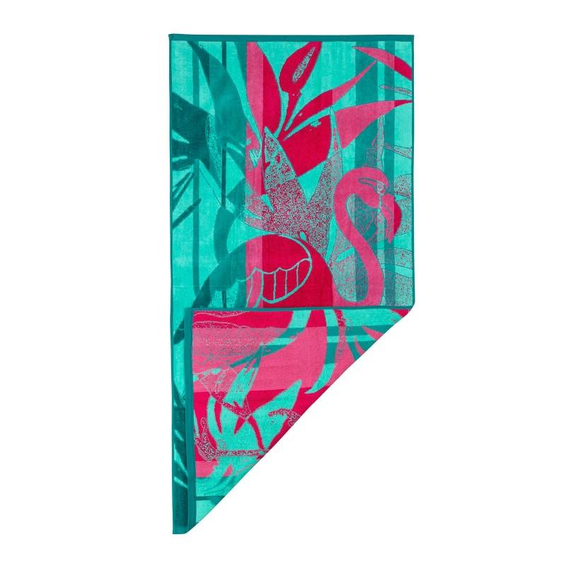 Iskusite luksuznu udobnost na svakom koraku! Moderan ručnik za plažu neophodan je na plaži, bazenu ili u sauni. Kvalitetan ručnik za plažu Svilanit Flamingo odlikuje samo najbolji 100% pamuk, iznimno elegantna i gusta tkanina. Jednostrani frotir jamči baršunast i mekan dodir. Izuzetna izdržljivost, upijanje i brzo sušenje, omogućuju vam dugotrajno korištenje ručnika. Ručnik je periv na 60 °C.