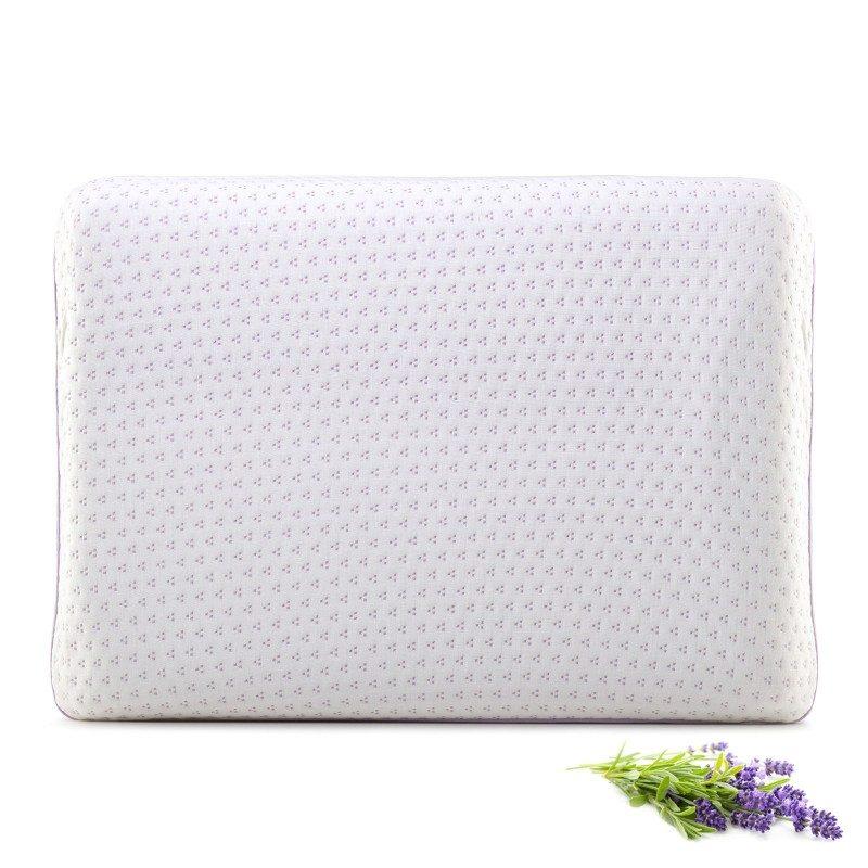 Klasični oblik jastuka Lavender Memory primjeren je za spavanje u svim položajima. Memorijska pjena kombinira prednosti i karakteristike klasičnih jastuka i jastuka od lateksa. Savršeno se prilagođava obliku tijela, podupire kralježnicu i rasterećuje tijelo tijekom spavanja. Navlaka jastuka može se skinuti i prati na 40 °C.