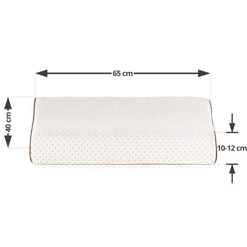 Anatomski oblik višeg jastuka XL Comfort od lateksa je prikladan za sve sa širim ramenima koji pretežno spavaju na boku ili leđima. Lateks je prirodni materijal koji odlično podupire vrat i glavu tijekom spavanja, a rupičasta struktura jezgre osigurava suho okruženje za spavanje. Navlaka jastuka je skidiva i periva na 40 °C.
