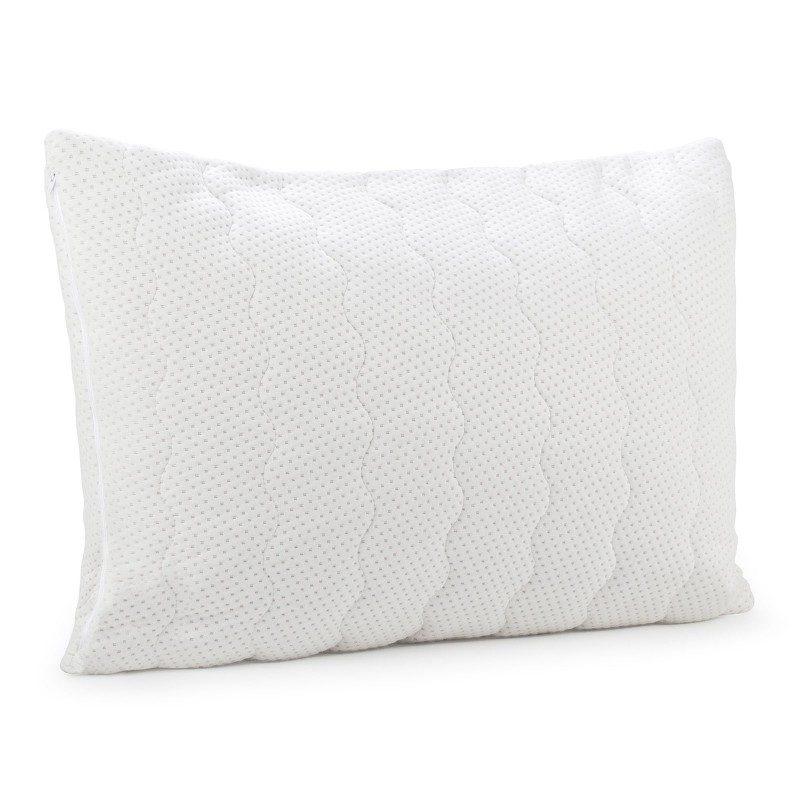 Klasični jastuk SleepForm s lateksom sigurno će vas uvjeriti u svestranost jer je prikladan za sve položaje spavanja i za sve koji jastuk savijaju tijekom spavanja. Lateks je prirodniji materijal koji odlično podupire vrat i glavu tijekom spavanja, a rupičasta struktura jezgre osigurava suho okruženje za spavanje. Navlaka jastuka je skidiva i periva na 40 °C.