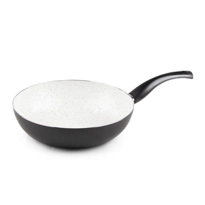 Eco Cook vok promjera 28 cm s neprianjajućim glatkim mineralnim premazom omogućuje prirodan način kuhanja s malo masnoće. Hrana zadržava sve vitamine i minerale koji su potrebni za zdravi život. Primjeren je za sve površine za kuhanje, uključujući indukciju, lako se pere. Možete ga prati i u perilici posuđa. Svo posuđe Eco Cook je bazirano na višeslojnom sastavu, čime se osigurava dug životni vijek i visok stupanj otpornosti i trajnosti.