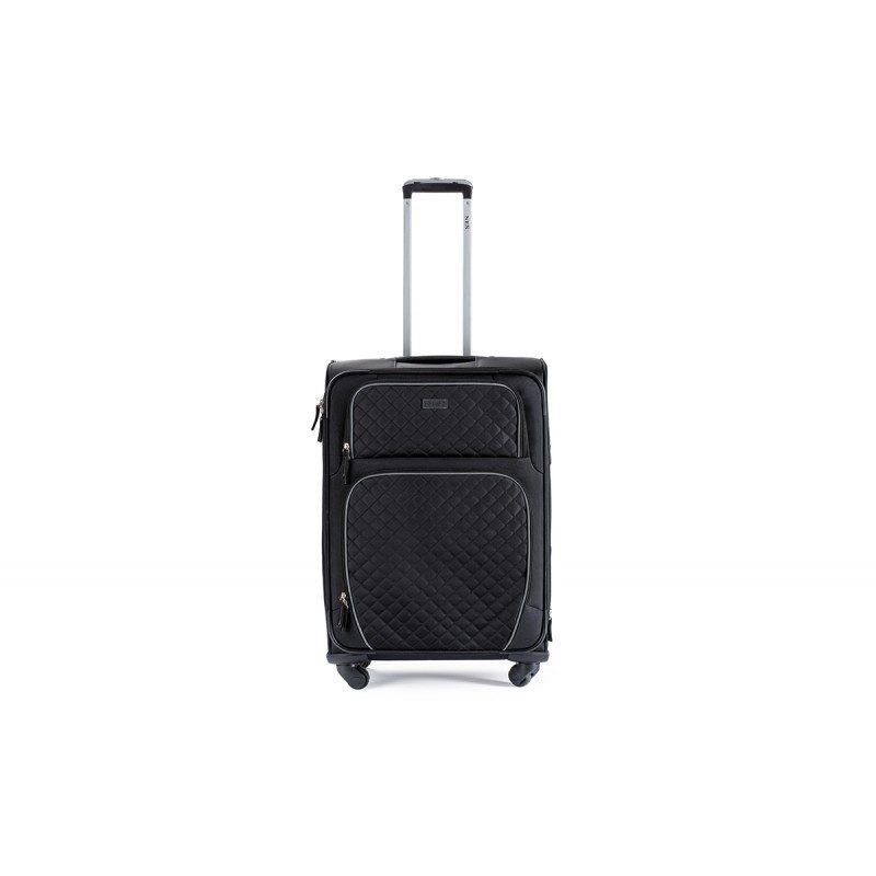 Lagani kofer je jednostavan za nošenje, ima teleskopsku ručku i četiri dvostruka rotirajuća kotača od 360 °. Velik broj ladica, džepova i pregrada olakšavaju pakiranje i slaganje.