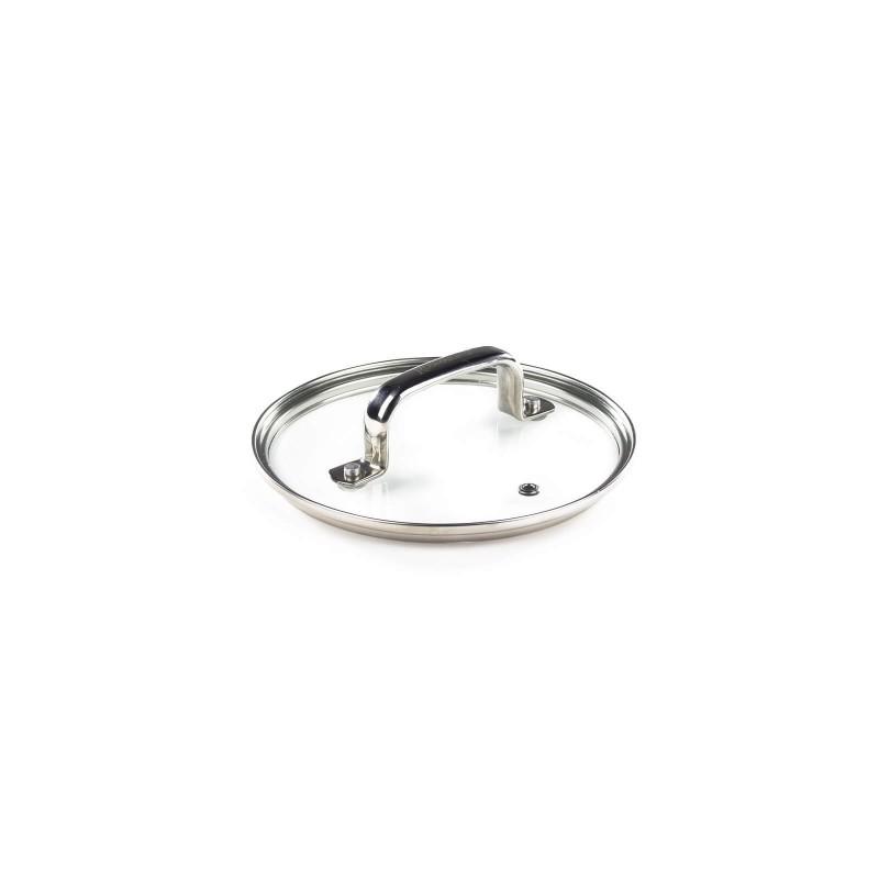 Poklopac Rosmarino Baste je izrađen od kvalitetnog i čvrstog stakla. S otvorom koji ispušta paru i sprečava ključanje iz posude. S ergonomski dizajniranom ručkom od nehrđajućeg čelika koji je otporan na vrućinu i ne pregrijava se. Kompaktni, deblji rub omogućuje bolje prianjanje posuđu i sprečava klizanje poklopca sa posude. Poklopac je periv u perilici posuđa.