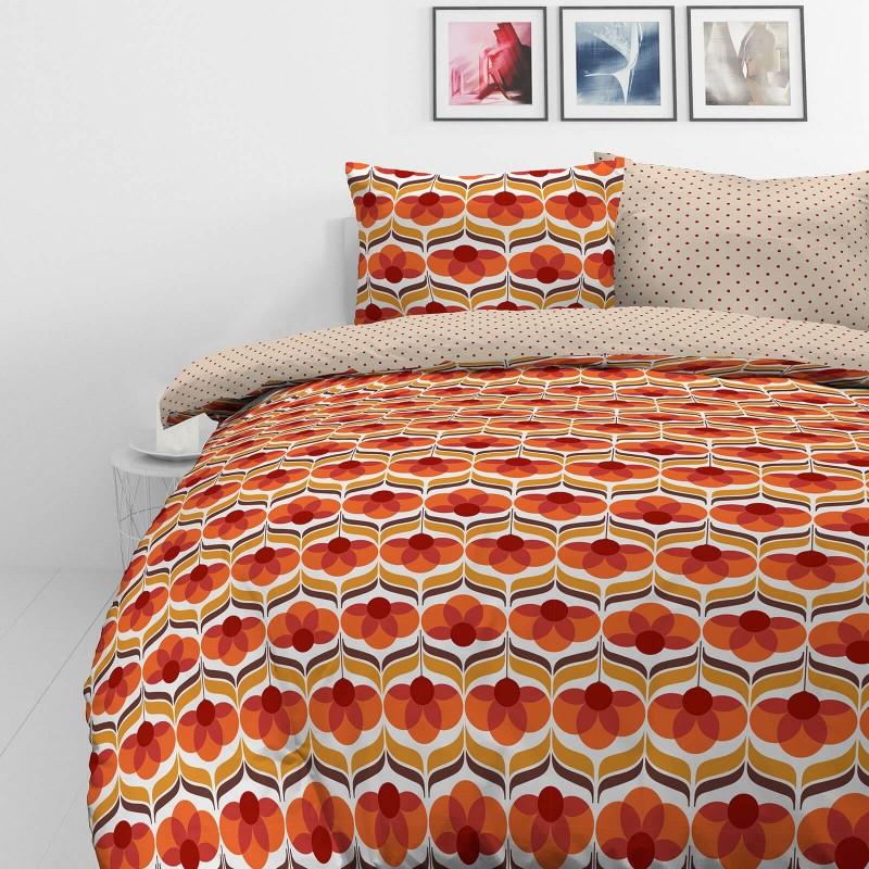 Vrijeme je za potpuno uživanje u modernim pamučnim posteljinama! Posteljina Retro Flowers od mekanog pamučnog satena, koji je satkan od visokokvalitetnog, tankog tkanja. Posteljina od satena je prekrasan ukras vaše spavaće sobe, a u isto vrijeme odličan izbor za udoban i ugodan san. Posteljina je periva na 40 °C.