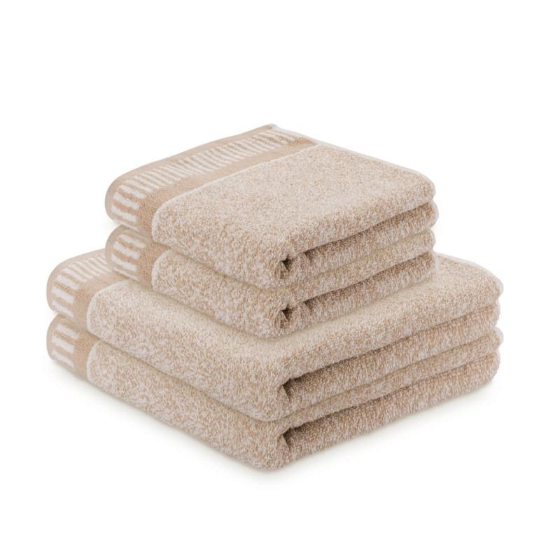 Osjetite raskošnu udobnost u kupaonici! Set kvalitetnih ručnika Relax od pamučnog frotira je izdržljiv, mekan, upijajući i brzo se suši. Klasični jednobojni ručnici sa elegantnim dekorativnim rubom: 50x100 cm i 70x140 cm. Ručnici su perivi na 60 °C.