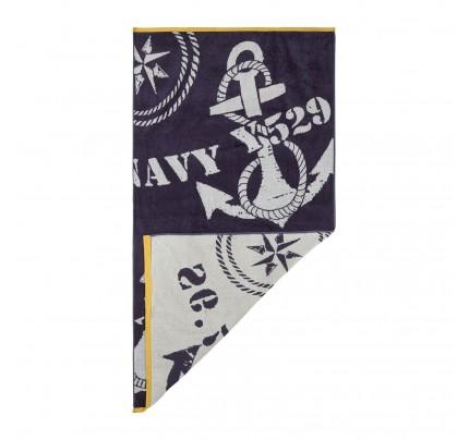 Ručnik za plažu Svilanit Navy Anchors