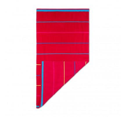 Ručnik za plažu Svilanit Lines - crveni