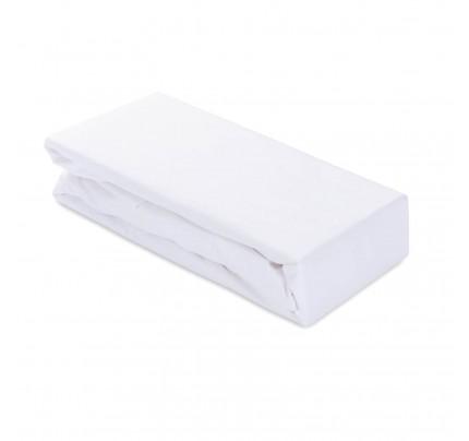 Pamučna plahta Svilanit Ivonne s gumicom - bijela