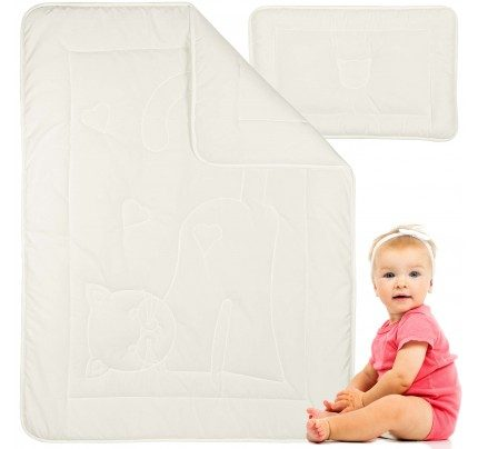 Dječji pokrivač i jastuk Vitapur Meow - veći
