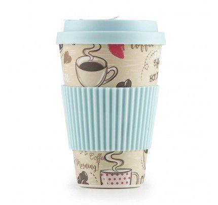 Rosmarino bambus šalica za kavu Hot Coffee - 400 ml