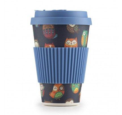Rosmarino bambus šalica za kavu Sova - 400 ml