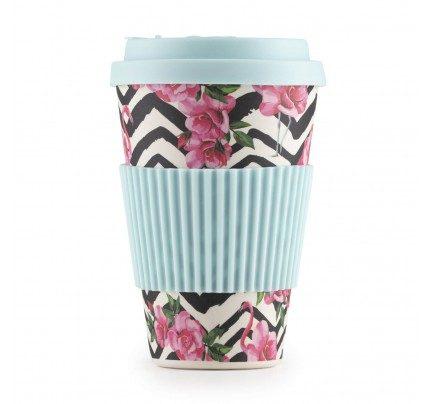 Rosmarino bambus šalica za kavu Pink Flamingo - 400 ml