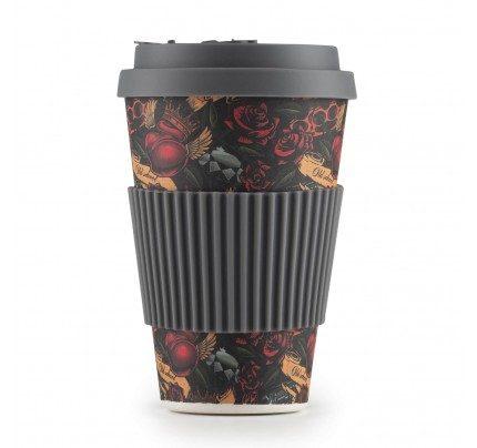 Rosmarino bambus šalica za kavu Tattoo - 400 ml