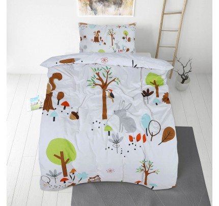 Dječja pamučna posteljina Svilanit Woodland