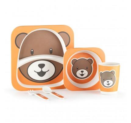5-dijelni dječji bambus set za jelo Rosmarino - Medo