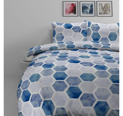 Pamučno satenska posteljina Svilanit Hexagon Dreams
