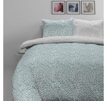 Pamučno satenska posteljina Svilanit Blue Dots
