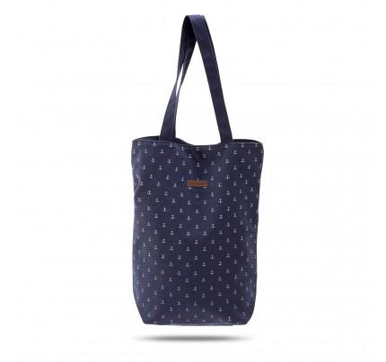 Mala torba za plažu Svilanit Nautica - plava sa sidrima