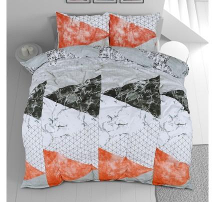 Pamučna posteljina Svilanit Geometric Pink
