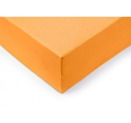 Pamučna plahta s gumicom Lyon - narančasta