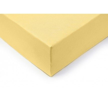 Pamučna plahta s gumicom Lyon - žuta