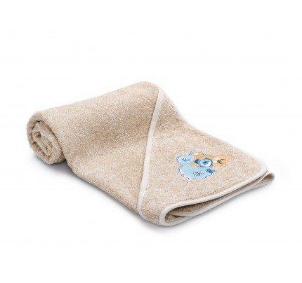 Dječji ručnik s kapuljačom Svilanit Relax - bež, plavi medvjed