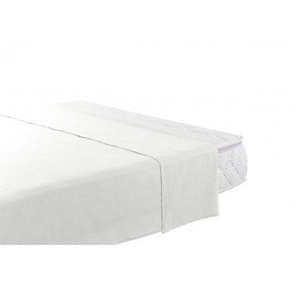 Gornja pamučna plahta Vitapur Family Selina - bijela