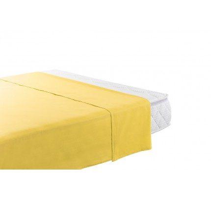Gornja pamučna plahta Vitapur Family Selina - žuta