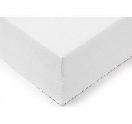 Pamučna plahta s gumicom Lyon XXL - bijela