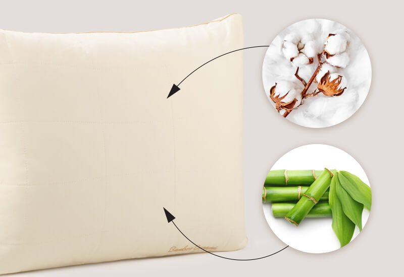 Navlaka od 100% nebijeljenog pamuka s bambusovim vlaknima za dodatnu svježinu i  higijensko okruženje za spavanje